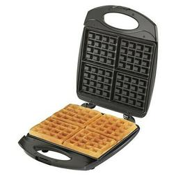 Hamilton Beach 4 Square Belgian Waffle Maker, Black/Stainles