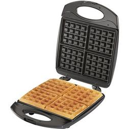 Hamilton Beach 26020 4 Square Belgian Waffle Maker, Black Co