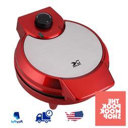 Heart-Shape Waffle Maker Metallic Red, Machine Electric Coun