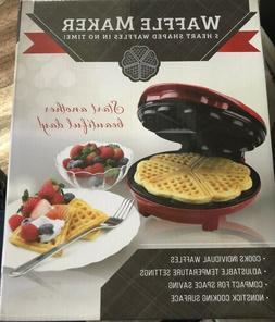 Heart Shape Waffle Maker - Red Metallic