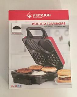 Holstein Housewares HU-09008R-M Breakfast Station - Metallic