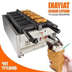 Ice Cream Fish Waffle Maker 110V | Commercial Grade Non-Stic