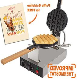 IMPROVED Puffle Waffle Maker Professional Rotated Nonstick A