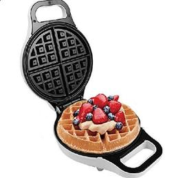 "J-JATI Electric 10""Round Waffle Maker Iron None Stick Surfac"