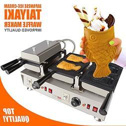 Japanese Taiyaki Fish Waffle Maker 110 V | 4 Pcs Commercial