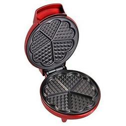 Kalorik Kitchen Things Red Metallic Heart Shape Waffle Maker