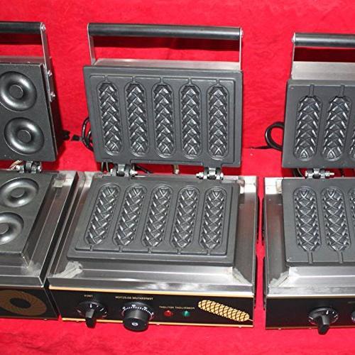 Free Hot 110V/220V Commercial Lolly Waffle Maker Sausage maker machine