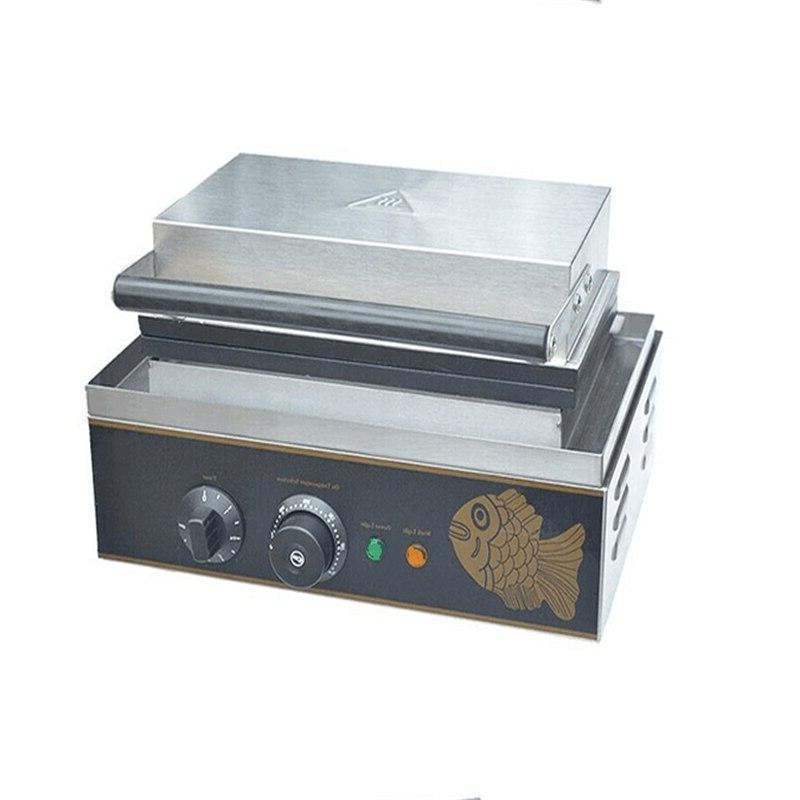 110V Cakes Machine Commercial Fish Ice Cream <font><b>Waffle</b></font>