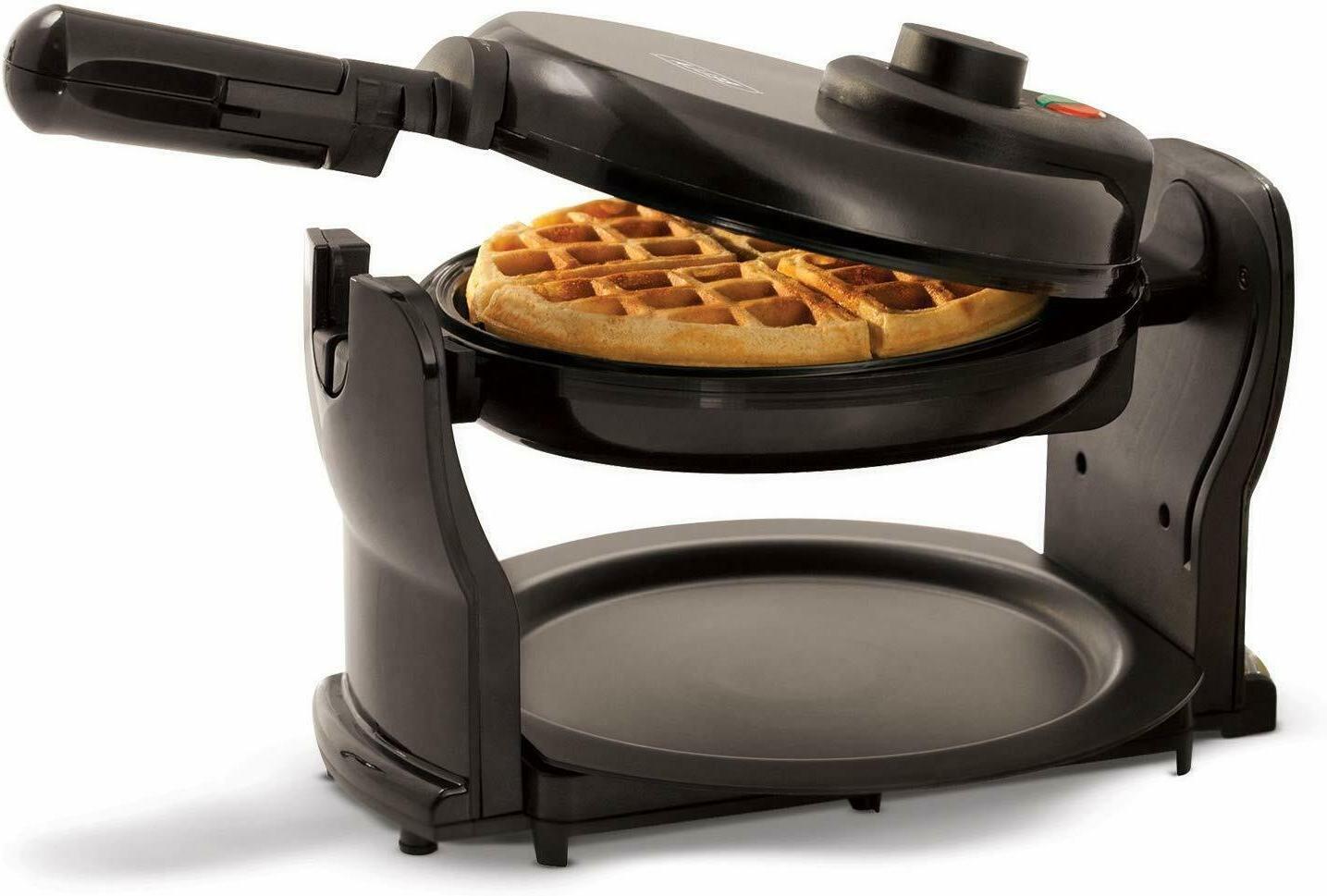Rotating Belgian Waffle Maker Classic Non-Stick Round Breakfast NEW