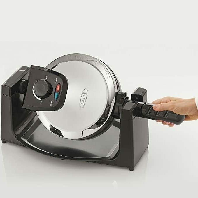 13991 rotating waffle maker polished stainless steel
