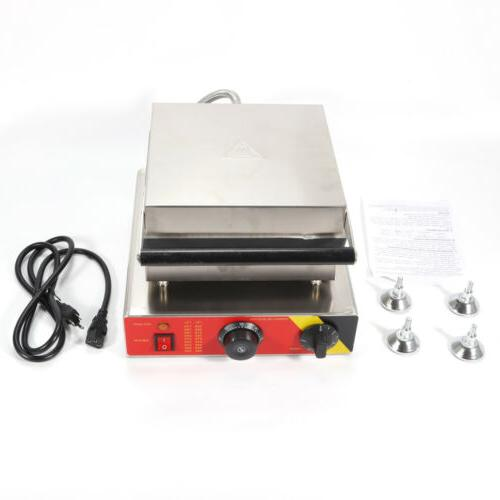 Commercial Waffle Maker Iron Machine 110V