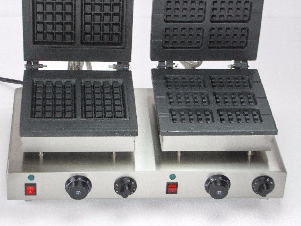 220V electric double <font><b>waffle</b></font> bakers <font><b>iron</b></font>