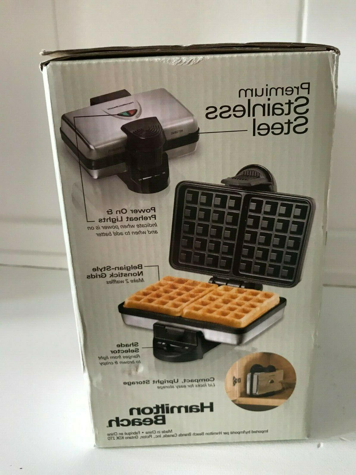 Hamilton Belgian Waffle Maker to Use Clean Store NIB