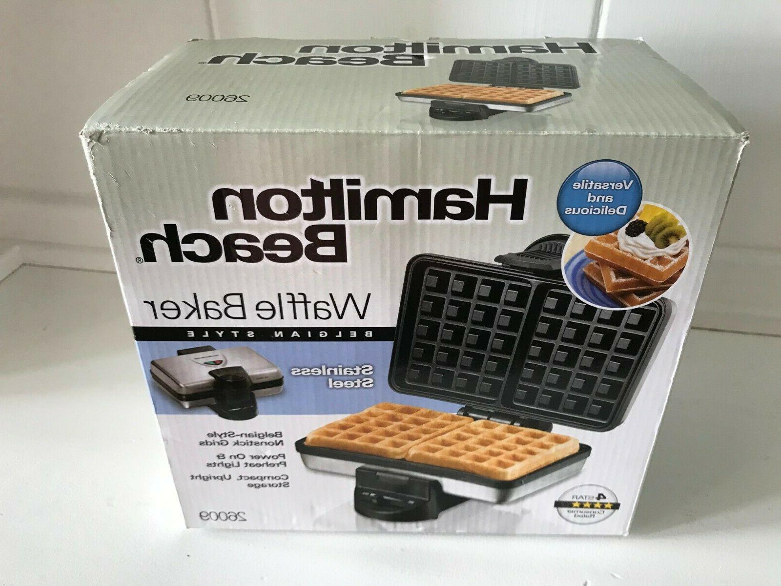 26009 nonstick belgian waffle maker easy to