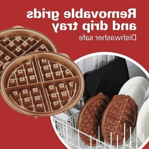 Hamilton 26031 Grid Waffle Maker 16.00 x x 9.25 in