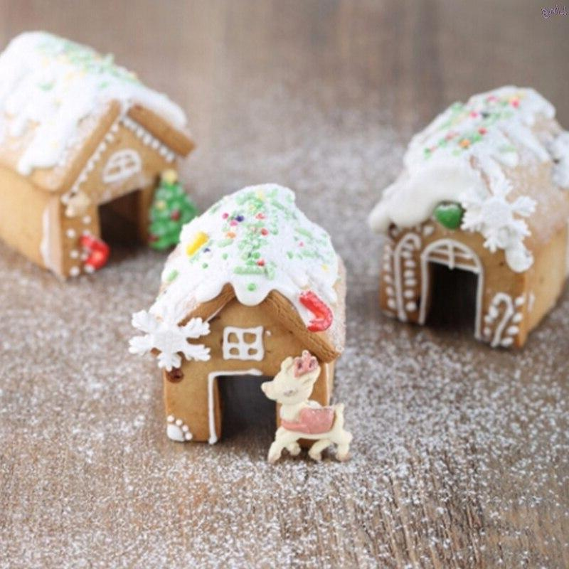 3pcs christmas gingerbread house biscuit cutter set