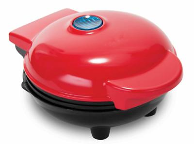 4 inch mini waffle maker red quick