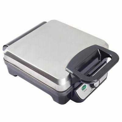 4 piece square stainless steel waffle maker