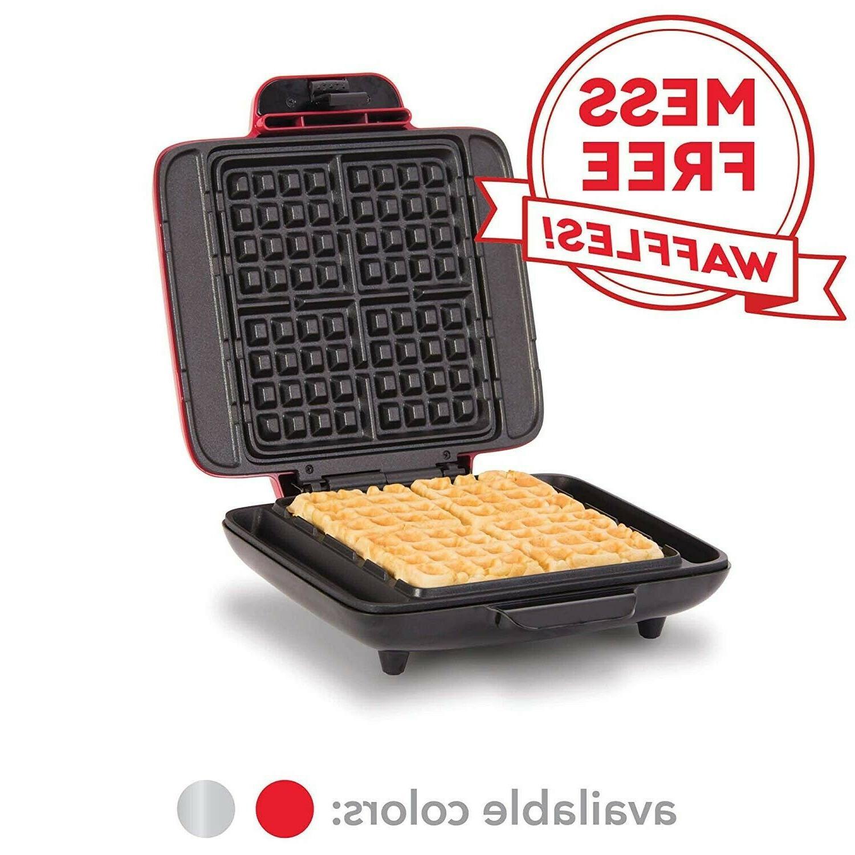 4-Slice Waffle Maker Dash Machine Belgian Non Stick Breakfas