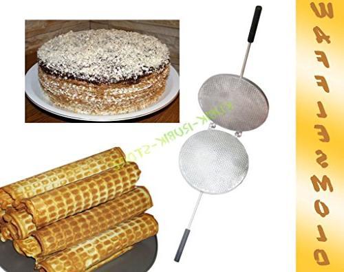Aluminum Mold For Sweet Russian Waffles Wafer Maker Plate Ne