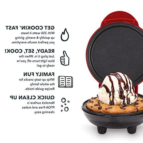 Dash Mini Electric Individual Pancakes, & on the go Lunch Snacks with + Red
