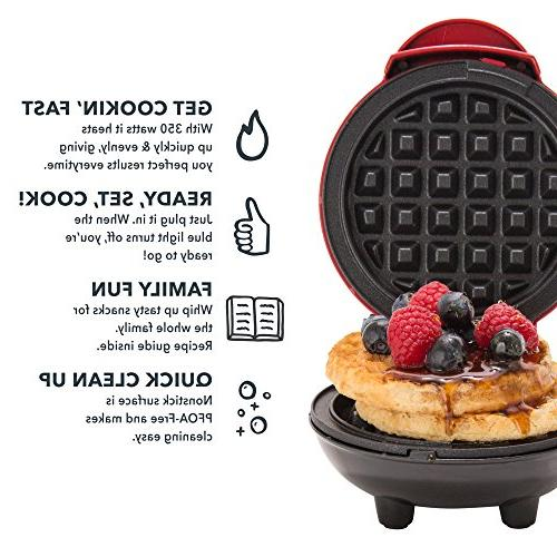 Dash Mini Maker: The Mini Waffle for Individual Waffles, Hash on the Lunch, or - Silver