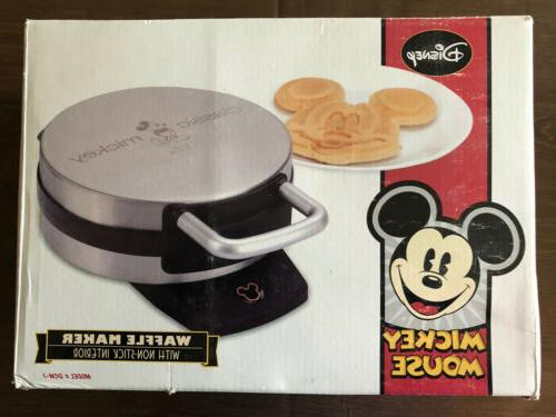 Disney DCM-1 Classic Mickey Waffle Maker, Brushed Stainless
