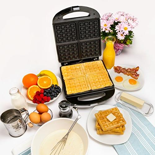 Four Square Non-stick Waffler Adjustable Browning When Ready