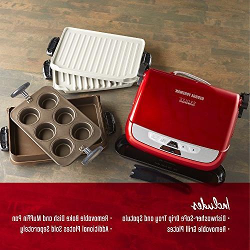 George Evolve Grill Ceramic Plates, Deep Dish Bake Pan Pan,