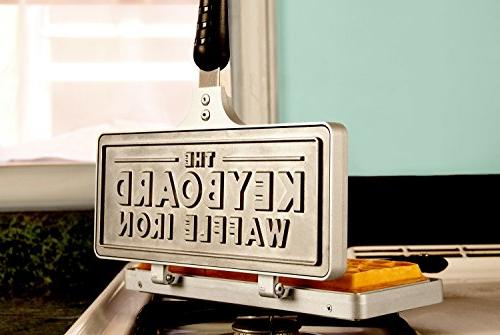 Messy Desk Designs Keyboard Waffle Iron - Cast Iron Stovetop