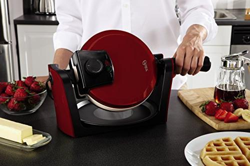 Oster Flip Waffle Maker, Apple