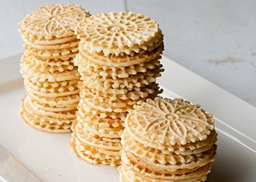 Pizzelle Electric Pizzelle Baker Makes Two 5-Inch Once- Recipes Included