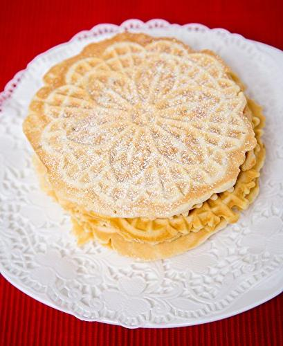 Pizzelle Non-stick Pizzelle Baker Press Two 5-Inch Cookies Once- Recipes