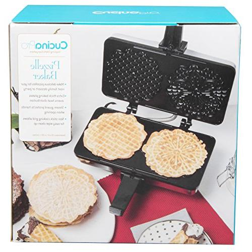 Pizzelle Pizzelle Two 5-Inch Cookies Once- Included