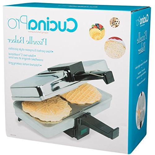 Pizzelle Pizzelle Press Makes Two 5-Inch Cookies at Once-