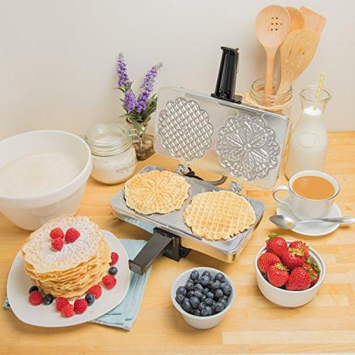 Pizzelle Maker- Pizzelle Two 5-Inch Once- Recipes Included