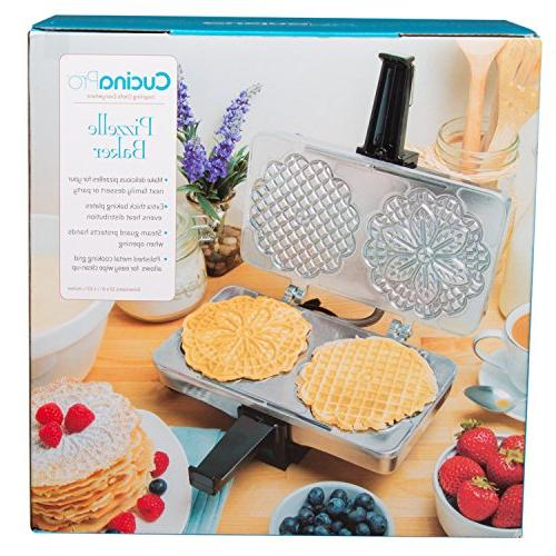 Pizzelle Pizzelle Baker Makes Two 5-Inch Cookies at