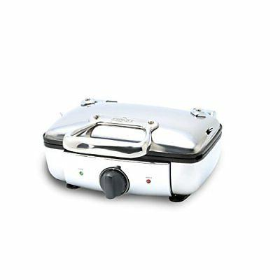 All-Clad 99011GT Stainless Steel Belgian Waffle Maker with 7