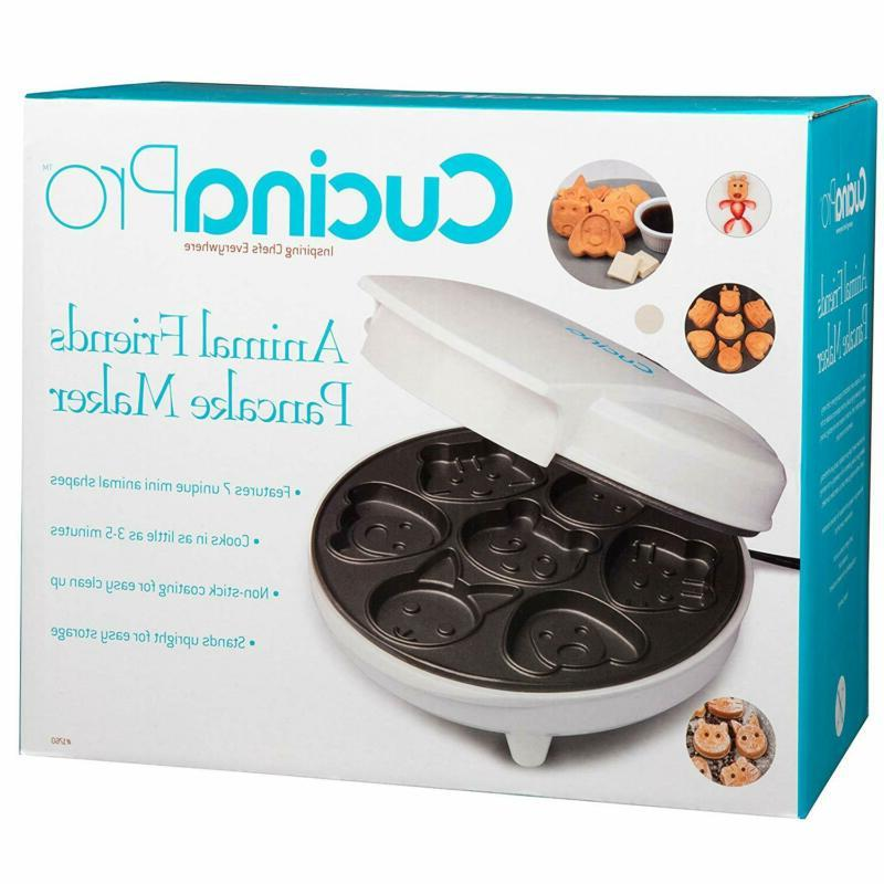 Animal Mini Waffle Maker 7 Shaped Pancakes Anti Stick Fun Kids