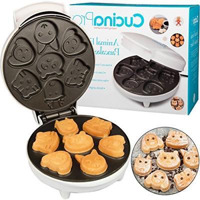 animal mini waffle maker different shaped pancakes