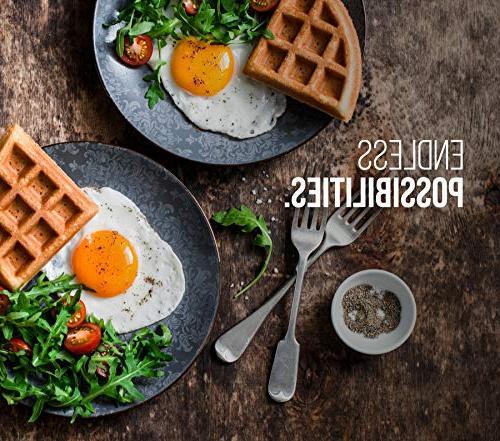 Chefman Belgian Maker w/Shade Selector Mess Free Waffle Iron w/Nonstick & Measuring Black
