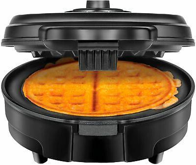 belgian anti overflow waffle maker black