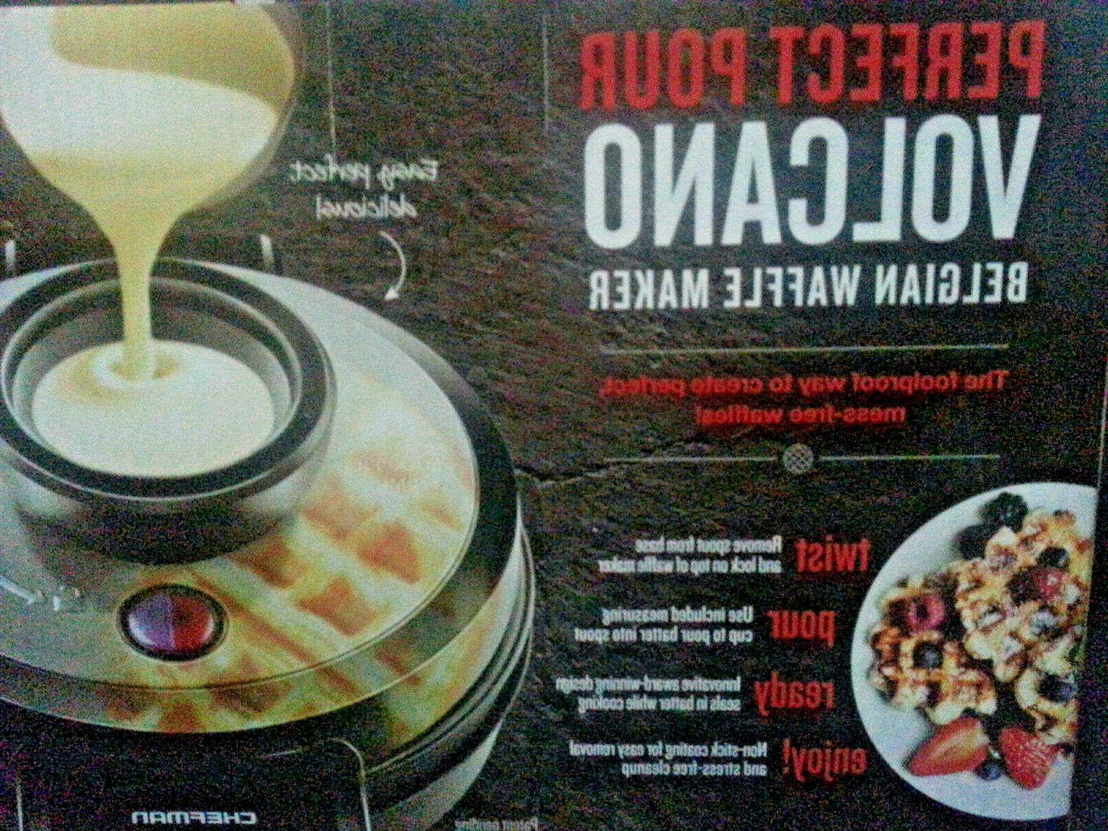 belgian perfect pour waffle maker brand new