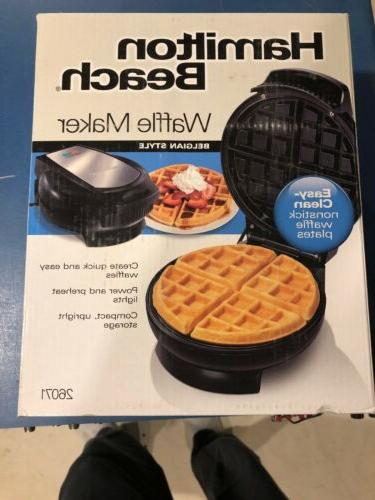 belgian style waffle maker model 26071