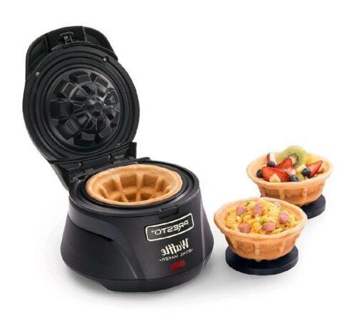 belgian waffle bowl maker electric iron press