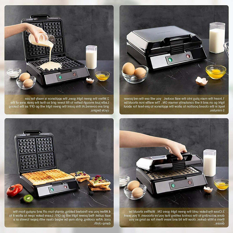 Belgian Maker, 4-Slice Square Waffle