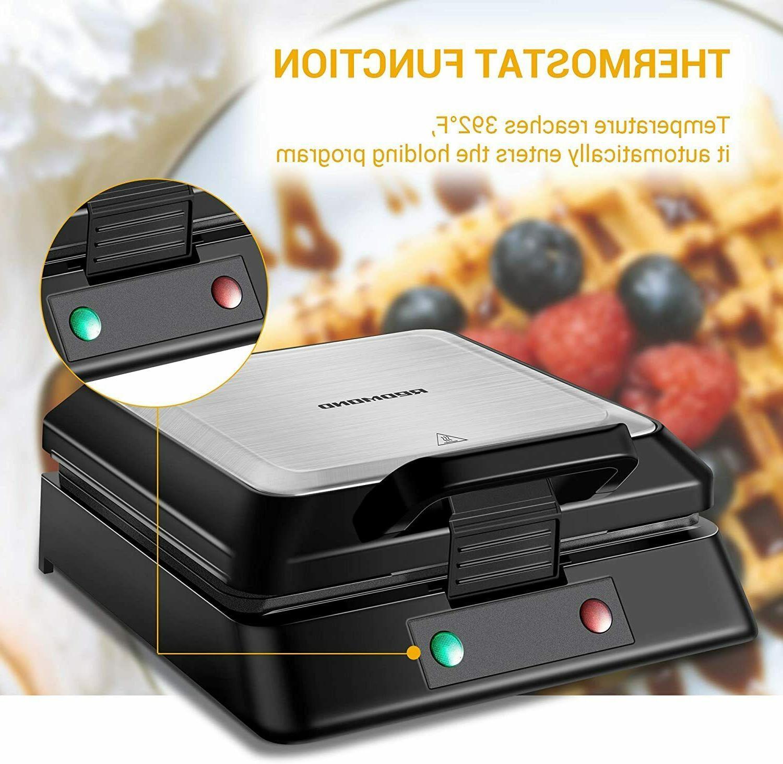 Belgian Waffle Maker, Square Steel Waffle
