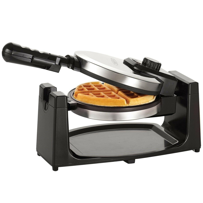 BELGIAN WAFFLE Rotating Round Waffles Breakfast