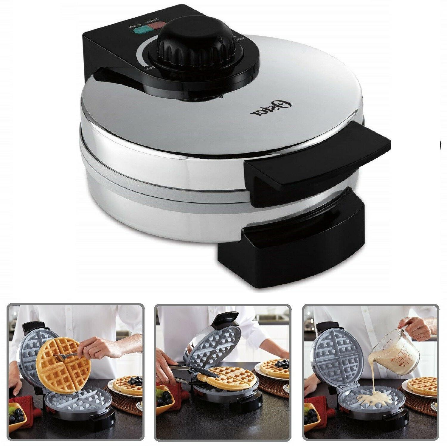 belgian waffle maker commercial stainless steel round