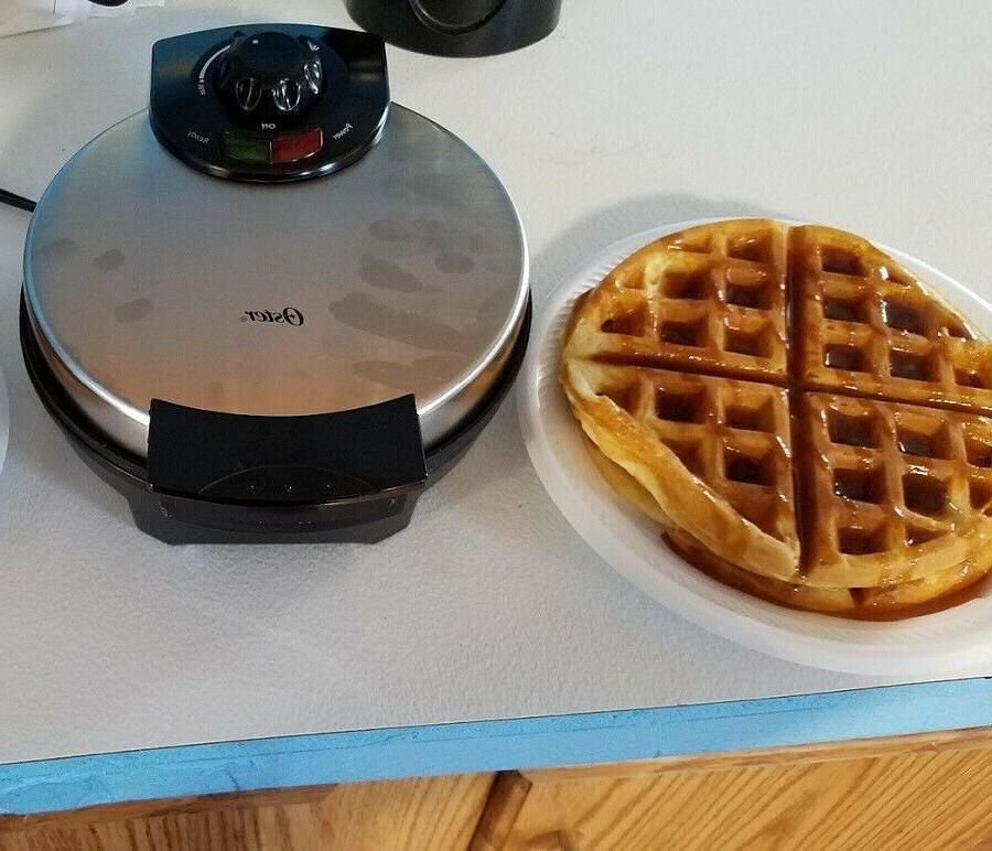Belgian Waffle Machine Individual Breakfast Non Stick Iron